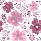 Wit en roze naadloos bloemenpatroon Royalty-vrije Stock Foto