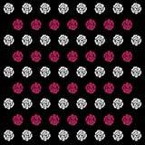 Wit en roze Rose Pattern Background-pictogram groot voor om het even welk gebruik Vector eps10 Royalty-vrije Stock Afbeelding