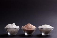 Wit en roze zout stock foto
