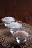 Wit en roze zout stock fotografie