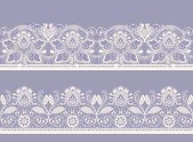 Wit en zwart naadloos kant Stock Foto's