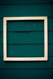 Wit frame op blauwe raads antieke stijl Stock Afbeeldingen