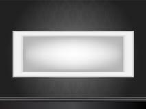 Wit frame op muurbehang Royalty-vrije Stock Foto's