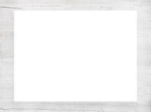 Wit gekrast houten kader, aanplakbord of horizontale rechthoek stock foto's