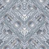 Wit geometrisch meander naadloos patroon vector illustratie
