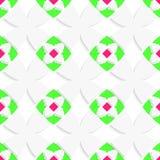 Wit geometrisch ornament met groen en roze stock illustratie