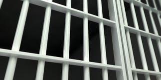 Wit Gesloten de Celperspectief van de Bargevangenis stock foto's