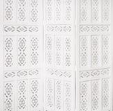 Wit gevoelig decoratief houten paneel royalty-vrije stock foto's