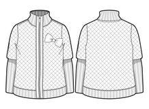 Wit gewatteerd jasje Stock Afbeeldingen