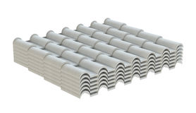 Wit golftegelelement van dak Geïsoleerde Royalty-vrije Stock Afbeelding