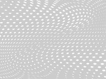 Wit-grijze halftone achtergrond Digitale gradiënt Abstracte achtergrond met cirkels, punt, punten Stock Afbeeldingen