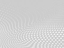 Wit-grijze halftone achtergrond Digitale gradiënt Abstracte achtergrond met cirkels, punt, punten Stock Fotografie