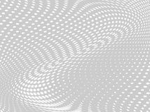 Wit-grijze halftone achtergrond Digitale gradiënt Abstracte achtergrond met cirkels, punt, punten Stock Foto's