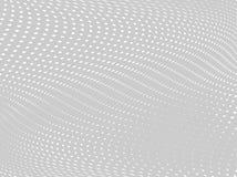 Wit-grijze halftone achtergrond Digitale gradiënt Abstracte achtergrond met cirkels, punt, punten Royalty-vrije Stock Fotografie