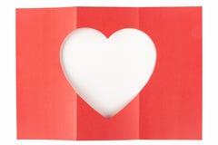 Wit hart één-drie Stock Afbeelding