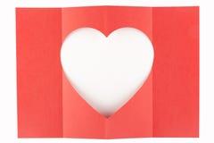 Wit hart één-vier Stock Foto's
