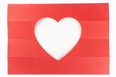 Wit hart één-vier Royalty-vrije Stock Foto's