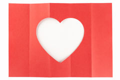 Wit hart één-vijf Royalty-vrije Stock Fotografie