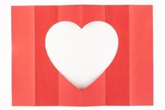Wit hart één-zes Royalty-vrije Stock Afbeelding