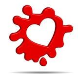 Wit hart vector illustratie