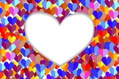 Wit hart royalty-vrije stock afbeeldingen