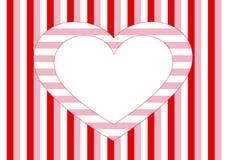 Wit hart en verschillende strepen Stock Fotografie