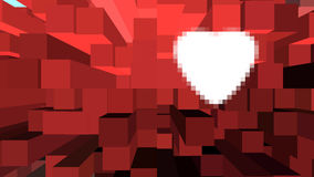 Wit hart op achtergrond Stock Foto's