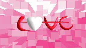 Wit hart op achtergrond Stock Afbeelding