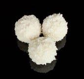 Wit heerlijk suikergoed met kokosnoot Stock Fotografie