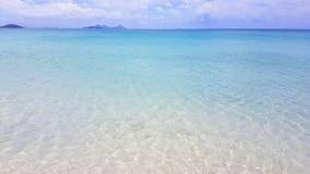 Wit hemelstrand op Pinkstereneiland in Australië stock foto's