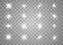 Wit het gloeien licht royalty-vrije illustratie