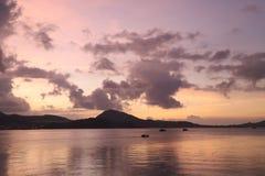 Świt - Hong Kong wyspy wschód Obraz Stock