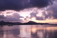 Świt - Hong Kong wyspy wschód Fotografia Royalty Free