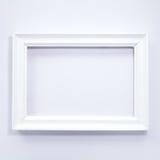 Wit houten fotoframe Stock Afbeeldingen