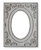 Wit houten frame voor ovale foto Stock Foto's