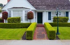 Wit huis Stock Afbeelding
