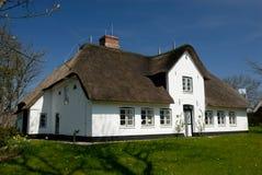 Wit huis Stock Foto
