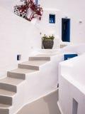 Wit Huis in Santorini, Griekenland stock afbeeldingen