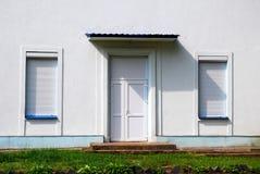 Wit huisvoorzijde Royalty-vrije Stock Afbeeldingen
