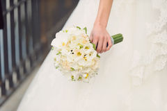 Wit huwelijksboeket Stock Afbeelding