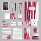 Wit identiteitsmalplaatje met origamielementen Vectorbedrijf st Stock Afbeeldingen