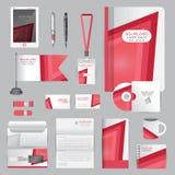 Wit identiteitsmalplaatje met origamielementen Vectorbedrijf st Stock Foto's