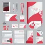 Wit identiteitsmalplaatje met origamielementen Vectorbedrijf st Royalty-vrije Stock Afbeeldingen