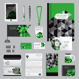 Wit identiteitsmalplaatje met origamielementen Vectorbedrijf st Royalty-vrije Stock Foto