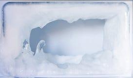 Wit ijs in de ijskast, Exemplaarruimte royalty-vrije stock fotografie