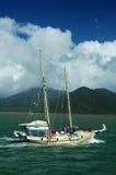 Wit jacht stock fotografie