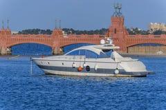 Wit jacht Stock Foto's