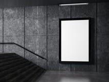 Wit kader op muur Royalty-vrije Stock Foto