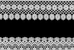 Wit kant op de zwarte achtergrond royalty-vrije stock afbeelding