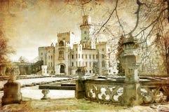 wit kasteel royalty-vrije illustratie
